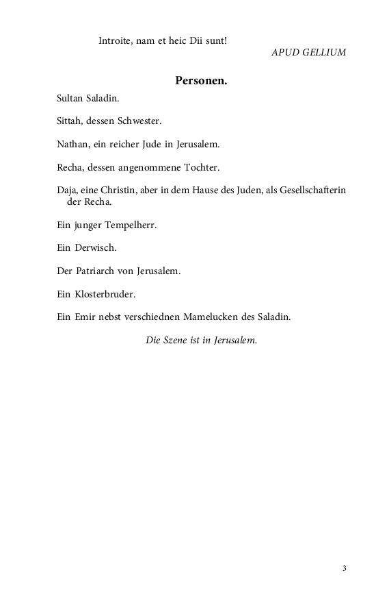 Im Buch Blättern Lessing Gotthold Ephraim Nathan Der